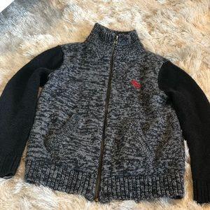 Abercrombie kids zip up knit sweater sz 5/6